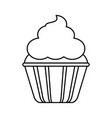 cupcake with frosting icon image vector image vector image