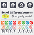 Cute Lovely Cupcake with Heart icon sign Big set vector image