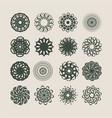 decorative design elements patterns set vector image vector image