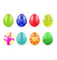 different easter eggs vector image vector image
