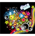 disco dance flyer vector image vector image