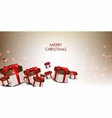 elegance background with christmas gifts vector image vector image