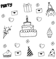 Element kids party doodle vector image vector image