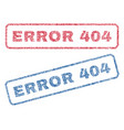 Error 404 textile stamps vector image