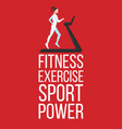 fitness exercise sport power banner vector image vector image