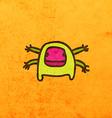 Four Armed Alien Cartoon vector image vector image