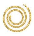 golden chain round spiral border frame wreath vector image vector image