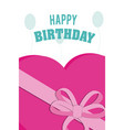 happy birthday with gift box design vector image