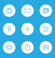 image icons line style set with sparkle photo vector image