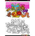 insects and bugs characters group color book vector image vector image