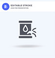 leak icon filled flat sign solid vector image vector image