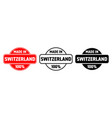 made in switzerland icon swiss quality vector image