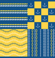 marine seamless pattern set 1 vector image
