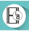 movie video camera strip film icon vector image vector image