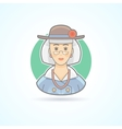 Old lady elderly woman icon vector image vector image
