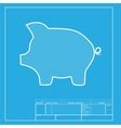 Pig money bank sign White section of icon on vector image vector image