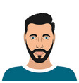 portrait of a young man with beard and hair style vector image vector image