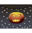 Pumpkin on lightened ghosts silhouette vector image vector image