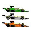 retro racing car vector image vector image