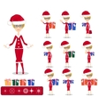 Santa Girl with Gifts vector image vector image