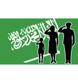 Saudi Arabia soldier family salute vector image vector image