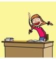 Schoolgirl student does well vector image