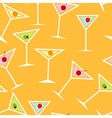 Seamless Background Pattern of Alcoholic Cocktail vector image vector image
