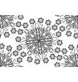 seamless ornamental oriental flowers vector image vector image