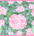 seamless vintage hydrangea flower pattern vector image vector image