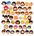 Set of cartoon children head vector image