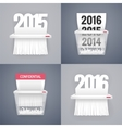 Set of Paper Shredder with Dates vector image
