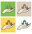 set of stumbleupon color glossy icon realistic vector image vector image