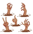Set of zombie hands for Halloween Party vector image vector image
