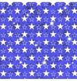 Starry Grunge Blue Background vector image