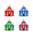 striped circus tent symbol amusement festival or vector image vector image