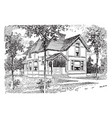 the beck home to a rich history vintage engraving vector image vector image