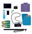things that people take with them on a trip jeans vector image vector image