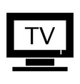 tv solid icon television vector image vector image