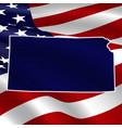united states kansas dark blue silhouette vector image vector image
