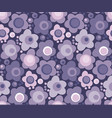 violet blooming flowers color seamless pattern vector image