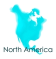 watercolor map of North America on a white vector image vector image