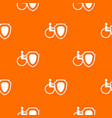 wheelchair and safety shield pattern seamless vector image vector image