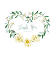 wreath of flowers in romantic with white backgroun vector image vector image