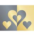 yin yang hearts vector image vector image