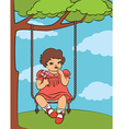 Young retro child vector image