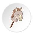 Toy donkey icon cartoon style vector image
