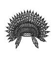 hand drawn indian headdress vintage vector image