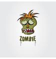 Cartoon Zombie face design template vector image