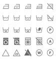 Laundry icons on white background vector image