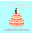 Wedding Cakes Best wishes vector image